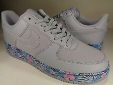 Nike Air Force 1 Low Aloha Flowers Grey Blue Extremely Rare SZ 9 (820266-005)