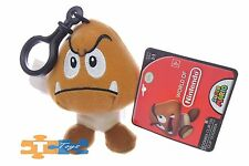 GOOMBA Clip-On Super Mario World of Nintendo 2017 Soft Push Keychain Figure NEW