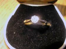 Beautiful Art Deco 18ct Gold, Plat & 0.20ct Diamond Solitaire Ring