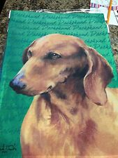 30x42 Inch Puppy Dog Dachshund Picture Large Flag
