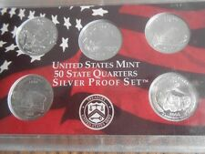 2006-S ROLL SILVER DEEP PROOF CAMEO STATE QUARTER SETS, 8 EA NV NE CO ND SD