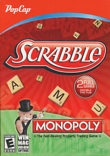Scrabble + Monopoly - 2x PC Games - Windows XP/Vista/7/8 & Mac OSX 10.7 - NEW!