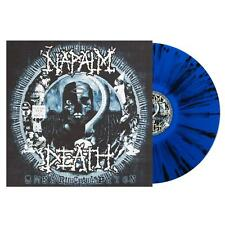 "Napalm Death ""Smear Campaign"" Blue/Black Splatter Vinyl - Ltd to 200!"