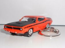 1970 PLYMOUTH AAR CUDA orange KEY CHAIN