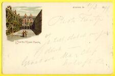 cpa Rare Litho Ecrite en 1899 Aug. ZOLL, ANVERS Cour du MUSÉE PLANTIN Culemborg