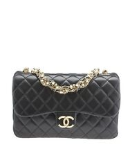 Chanel Westminster Pearl Black Quilted Lambskin Leather Shoulder Bag