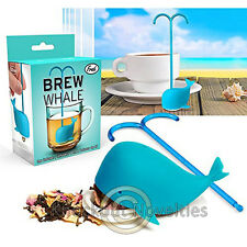 Brew Whale Tea Infuser Blue Leaves Fresh Pot Drink Herbs Cup Fish Healthy Gift