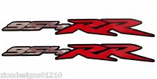 954RR Fireblade Motorcycle decals graphics stickers chrome and red on black