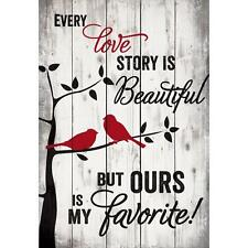 """EVERY LOVE STORY IS BEAUTIFUL... Distressed Pallet Wood Sign, 24.75"""" x 36"""""""