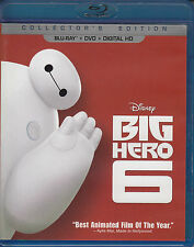 Big Hero 6 (Blu-ray/DVD, 2015, 2-Disc Set) VG