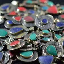 20 REAL COINS TRIBAL GYPSY BELLY DANCE BANJARA ETHNIC AFGHAN JEWELRY STONE MIX