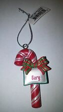 "GANZ CANDY CANE PERSONALIZED CHRISTMAS ORNAMENT ""GARY"""