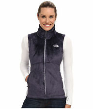 New Womens North Face Osito Fleece Jacket Vest Greytone Blue Small