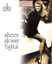 Ultimate Luxury Glossy Ivory Sheer to Waist ***Elle*** Tights Small/Medium