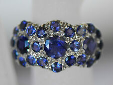 A beautiful Edwardian ring reproduction set with genuine blue Iolite