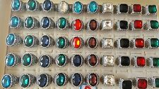 Joblot of 50pcs Oval Glass Crystal & Antique Fashion Rings - NEW Wholesale D