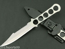Survival Hunting Outdoor Camping Scuba Diving Dive Knife Fixed Blade White #05