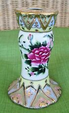 VINTAGE HAT PIN HOLDER NIPPON? HP ROSES & GOLD ENCRUSTED DECOR