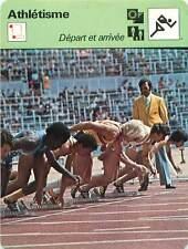 FICHE CARD: Le départ d'un 100 m Starting-block Faux départ  Athlétisme 1970s