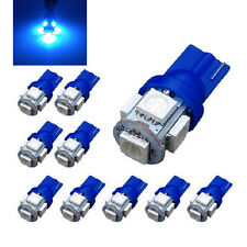 10 Pcs T10 Blue 5050 5SMD LED Wedge Car Light Bulb 194 168 W5W 12V