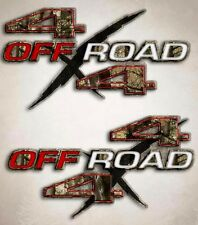 Camo 4x4 Truck Decal - Off Road Hunting Sticker for Ram Silverado Titan