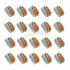 20 x Spring Terminal Block Cable 2 Wire Pin Conductor Compact Connector 28-12AWG