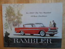 Amc Rambler 1960 Prestige Folleto - 6 Rebel V8 Ambassador American Motors Corp