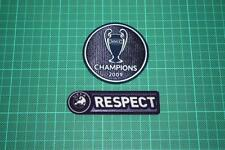 UEFA CHAMPIONS LEAGUE WINNER and RESPECT BADGES 2008-2009