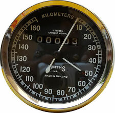 NEW REPLICA SMITHS SPEEDOMETER 160 Kph BSA ENFIELD - fast shipping