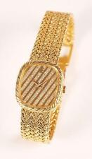 PIAGET AUDEMARS 18K SOLID GOLD DIAMOND PAVE LADIES WATCH - MANUAL WIND