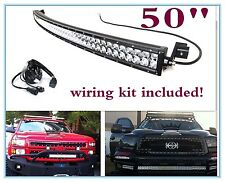 "50"" 288W CURVED LED LIGHT BAR COMBO FORD F-250 Super Duty Dodge + Wiring harness"