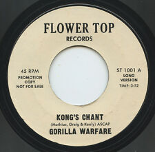 Hear- Rare Funk / Psych 45- Gorilla Warfare- Kong's Chant- Flower Top 1001-Promo
