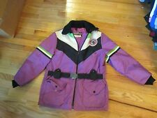 Vintage Arctic Cat Snowmobile Winter Jacket Coat with Belt Size M
