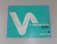 Teilekatalog / Ersatzteilliste / Parts List Honda CB 550 F / CB 550 F 1 Stand 77