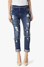 $265 NEW 7 For All Mankind Relaxed Skinny Girlfriend Jean Patches & Destroy - 25