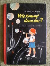 Physik auf Schritt und Tritt - DDR Kinderbuch 1961 - Eisenbahn Post Kino Zirkus