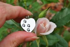 Cremation Jewelry Pendant Urn for Ashes Pet Paw Print Heart Dog Cat USA FAST