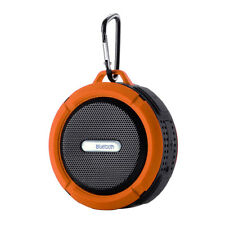 Orange-Waterproof Bluetooth Wireless Car Speaker Boombox Outdoor Travel
