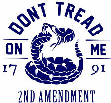 Dont Tread on Me,1791,2nd Amendment,Guns,Molon Labe,Stickers,DTOM,Vinyl Decal