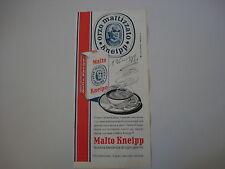 advertising Pubblicità 1965 MALTO KNEIPP