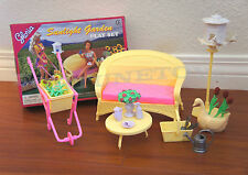 GLORIA DOLLHOUSE FURNITURE Sunlight Garden W/ Wheelbarrow PLAY SET FOR BARBIE