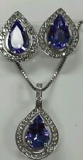 14k gold fine jewelry set Diamonds & gemstones 0.75 ct dia 2.25ct pear shape tan