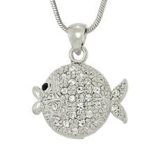 FISH W Swarovski Crystal Ocean Coral Reef Sea Aquarium Pendant Necklace Gift