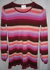 HANNA ANDERSSON GIRLS LONG SLEEVE COTTON TUNIC SWEATER PINK STR 150 GENTLY WORN