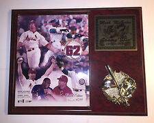 Limited Edition Commemorative Plaque Mark McGwire & Sammy Sosa 62 Home Runs 1998
