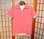 DSQUARED2 POLO LAYERED PINK WHITE USED BUTTON T-SHIRT RUNWAY JEAN S M MEDIUM