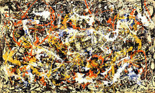 Convergence by Jackson Pollock Abstract Lines Cool Colors Print Poster 40x28