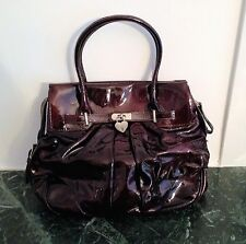Gianni Chiarini Genuine Leather, Burgundy Patent designer handbag made in Italy