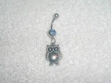 Owl Bird Nocturnal Charm Belly Button Navel Ring Body Jewelry Piercing