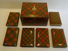 Magnificent & Rare Tartan Ware Box Containing Scott's Poetical Works c.1870